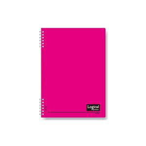 (業務用セット) スイング・ロジカルノート/Wリング B5 A罫 PP表紙 ピンク NW-B50-P【×20セット】 送料込!