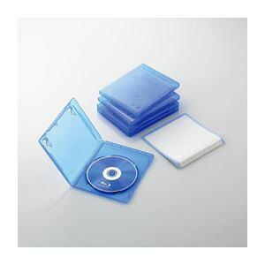 (まとめ)エレコム Blu-rayディスクケース(1枚収納タイプ) CCD-BLU105CBU【×10セット】 送料込!