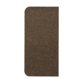 吸着式 階段マット/防滑マット 【ブラウン 15枚入り】 幅45cm 洗える 繰り返し貼れる仕様 カット可 ポリエステル 『レック』