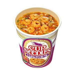 (まとめ)日清食品 カップ ヌードルトムヤムクンヌードル 75g 1ケース(12食)【×4セット】 送料込!