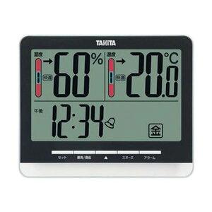 (まとめ)タニタ 温湿度計 ブラックTT-538BK 1個【×3セット】 送料無料!