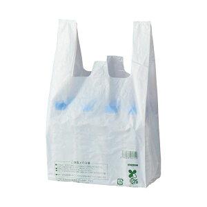 (まとめ)スマートサプライ レジ袋(乳白) 30号 RB30W-B25 1パック(100枚) 【×30セット】