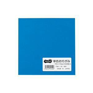 (まとめ) TANOSEE 単色おりがみ あお 1パック(100枚) 【×30セット】 送料込!