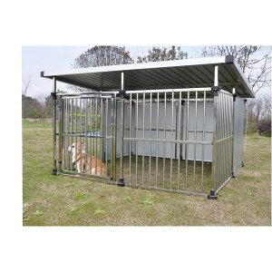 ドッグハウス DFS-M2 (1坪タイプ屋外用犬小屋) 大型犬 犬小屋 ステンレス製 組立品【代引不可】 送料込!