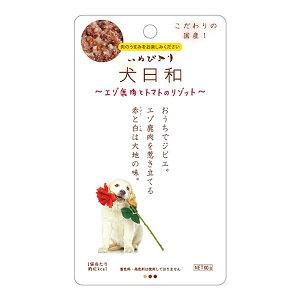 (まとめ)犬日和レトルト エゾ鹿肉とトマトのリゾット 60g(ペット用品・犬用フード)【×30セット】 送料込!