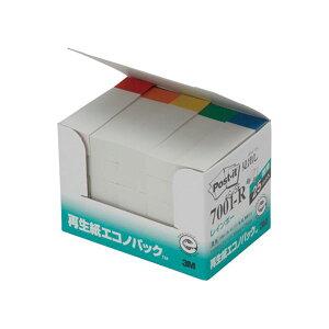 (まとめ) 3M ポスト・イット エコノパック見出し 再生紙 50×15mm ホワイト(5色帯入) 7001-R 1パック(25冊) 【×5セット】 送料込!