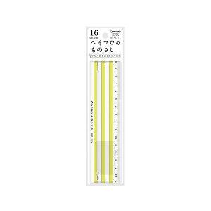 (まとめ) 共栄プラスチック ヘイコウのものさし 16cm イエロー 【×10セット】 送料込!