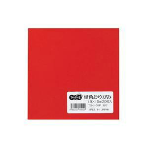 (まとめ) TANOSEE 単色おりがみ あか 1パック(20枚) 【×100セット】 送料込!