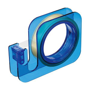 (まとめ) ニチバン セロテープ 大巻ハンドカッター 18mm×20m ブルー TC-18E4 1個 【×10セット】 送料込!
