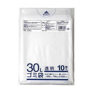 (まとめ)クラフトマン 業務用透明メタロセン配合厚手ゴミ袋 30L HK-025 1パック(10枚)【×50セット】 送料込!