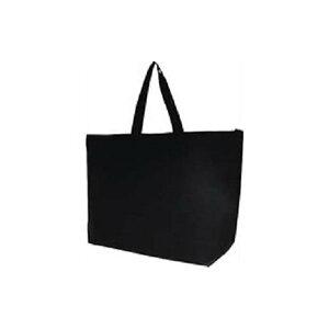 (まとめ) サンナップ 不織布ファスナーバッグ 大 5枚 ブラック【×5セット】 送料無料!