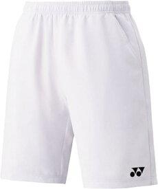 (15048/011)ヨネックス ユニハーフパンツ(スリムフィット) カラー:ホワイト サイズ:M
