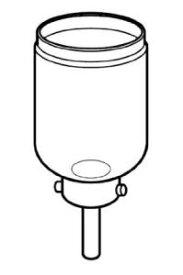 ツインバード製サイフォン式コーヒーメーカー(CM-D853BR)用部品「ガラスロート(ゴム付)」CM-AF68