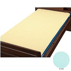 ベッドパッド型防水シーツ サックス W 009435