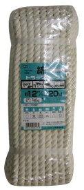 ユタカメイク 綿ロープシュリンクパック 12mm×20m 【TC-5】