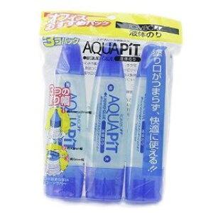 トンボ鉛筆 液体のり アクアピット 3コパック HCA-311