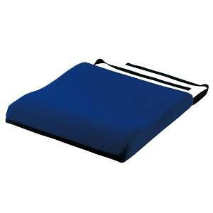 CP【ComfortPosition】クッション ブルー 40cm×40cm×厚さ前7cm〜後6cm (1095)  送料込み!