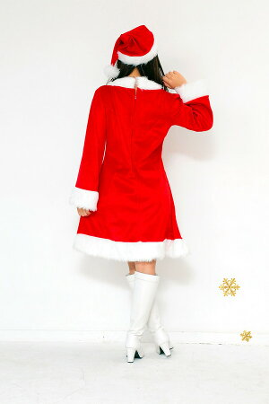 【クリスマスコスプレ衣装】Peach×Peachレディーススイートサンタクロースサンタコスプレ女性用ワンピース【あす楽対応】【即納】【HLS_DU】