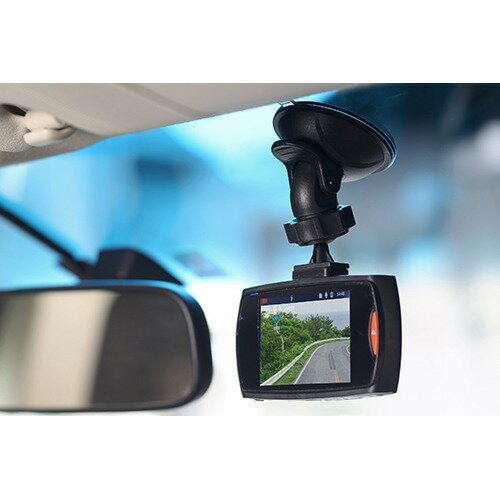 リアカメラ付 赤外線6灯 カメラ型 HD ドライブレコーダー 1台 【TOHO】【家電】