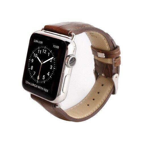 【送料込!】ゲイズ AppLe Watch用バンド42mm ブラウンクロコ GZ0485AW 1コ入 【※送料込の価格です。】