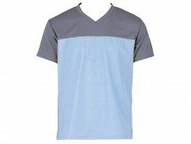 入浴介護Tシャツ/ブルー/M フットマーク 0403340