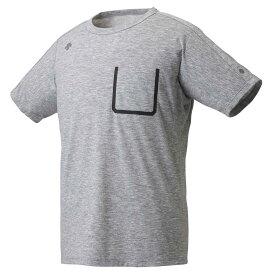 デサント DESCENTE マルチトレ−ニング トップス単品(メンズ) 半袖Tシャツ グレー杢(GYM) M DMMRJA53Z