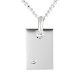 LOVERS SCENE ラバーズシーン ダイヤモンド プレートシルバーネックレス シルバー 宝石2色 LSP153 普段使い