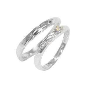 【刻印無料】【納期約4週間】Tenshi no Tamago 天使の卵 Angel Wedding K10 マリッジリング 結婚指輪 レディース メンズ ペア 10金 ホワイトゴールド ダイヤモンド 誕生石12色 AW2362K10WG