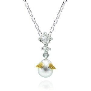【送料無料】Tenshi no Tamago 天使の卵 18金ホワイトゴールド 天然ダイヤモンドネックレス レディース 天使146D ネックレス レディース 18金 ホワイトゴールド 天然 ダイヤモンド シンプル 人気