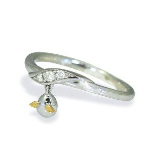 【送料無料】【受注生産】【納期4週間】Tenshi no Tamago 天使の卵 18金ホワイトゴールド ダイヤモンドリング 18金 K18 ホワイトゴールド ダイヤモンド 天使243D シンプル 人気 ギフト 誕生日 女性