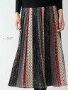 【再入荷10月22日20時より】「Vieo」配色彩るスカートゆったり レディース Vieo ヴィオ きれいめ シンプル 大人 上品
