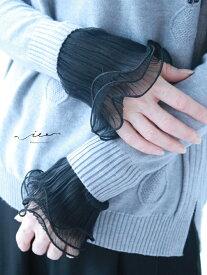 【再入荷10月22日20時より】(ブラック)「Vieo」咲き舞う付け袖