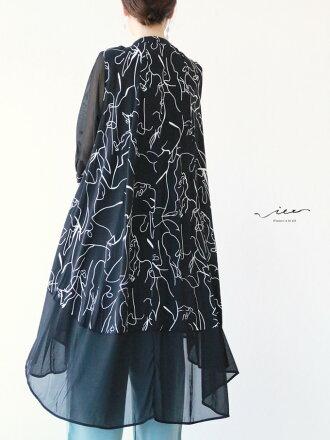 【再入荷♪♪7月28日20時より】「Vieo」線で描く美しい羽織り