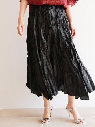 【再入荷3月17日20時より】(ブラック)「Vieo」その雰囲気を感じてスカート