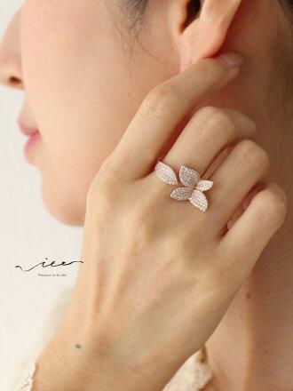 ▼▼「Vieo」美しき輝く花のリング2月23日20時販売新作ゆったりレディースVieoヴィオきれいめシンプル大人上品