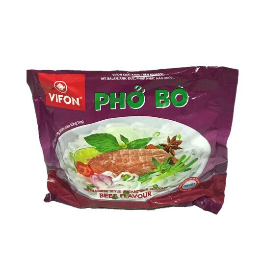 VIFON ベトナム インスタントフォー 牛肉風味 1ケース(30袋入り) VIFON Pho Bo 1 thung(30 goi)【送料無料(※北海道・沖縄は送料別途600円)】【アジアン、エスニック、ベトナム食材、ベトナム食品、食品、ベトナムフォー、チリソース】
