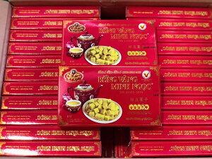 MINH NGOC 緑豆菓子 240g 10箱 BANH DAU XANH MINH NGOC 240g 10hop 【アジアン、エスニック、ベトナム食材、ベトナム食品、ベトナム料理、お菓子、茶菓子、緑豆】