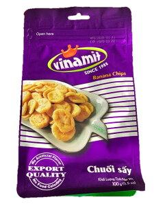 Vinamit フルーツチップス バナナ味 100g Vinamit Chuoi say 100g 【アジアン、エスニック、ベトナム食材、ベトナム食品、ベトナム料理、お菓子、トロピカルフルーツ】