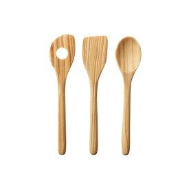 WECK ウェック Wood Tool Set S 14cm 木製 スプーン スパチュラ 穴あきスパチュラ 3点セット メール便対応 WW-S301 さじ へら