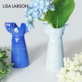 100円クーポン対象 Lisa Larson リサ・ラーソン WARDROBE DRESS ワードローブ ドレス | ネイビー ライト ブルー 花瓶 花器 フラワーベース 北欧 ブランド オブジェ インテリア