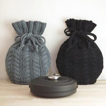 日本製,新潟,あったか,綿,編み模様,小型,手のひらサイズ,カバー付き,ナチュラル,エコ,hot_water_bottle