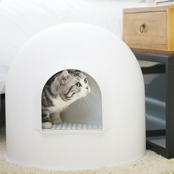 イグルー のような 猫用 トイレ pidan Igloo Cat Litter Box ピダン 氷雪ハウス Snow White スノーホワイト 抗菌 消臭 カバー おしゃれ インテリア 猫用品