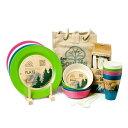 ピクニックセット トウキョウ 4人分セット|Eco Soulife エコソウライフ (アウトドア・皿・キャンプ・運動会・お花見・4人分)