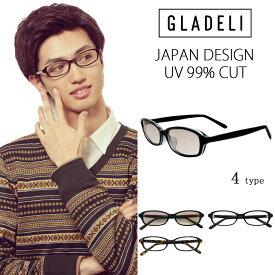 【送料無料】【全4色】GLADELI スクエア サングラス 伊達メガネ G50-07 メンズ