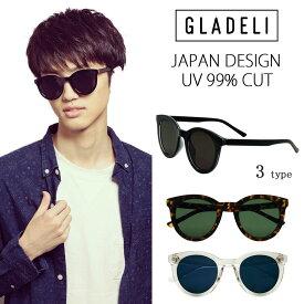 【送料無料】【全3色】GLADELI ボストン サングラス (フラットレンズ) G50-26 レディース メンズ