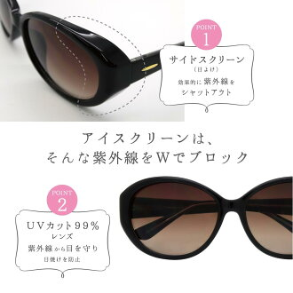 EYESCREENアイスクリーンサングラスサイドスクリーン日よけ日焼けブロック紫外線カット紫外線対策UV対策ARコーティング反射防止美容おしゃれ