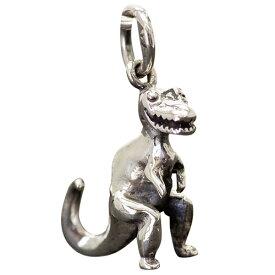 恐竜 チャーム シルバー925 アクセサリー パーツ かわいい 送料無料