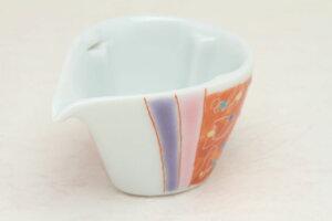 九谷焼 ミルチュウ 銀舟窯 桃青点彩文 コーヒー用ミルク入れの新しいスタイル コーヒーフレッシュをカポっとはめる (ミルクポット)