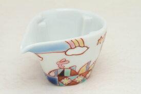 九谷焼 ミルチュウ 銀舟窯 海遊 コーヒー用ミルク入れの新しいスタイル コーヒーフレッシュをカポっとはめる (ミルクポット)【RCP】