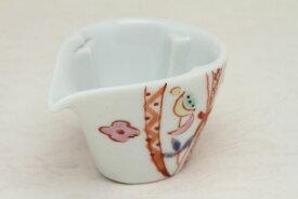 九谷焼 ミルチュウ 銀舟窯 リボン コーヒー用ミルク入れの新しいスタイル コーヒーフレッシュをカポっとはめる (ミルクポット)【RCP】